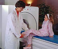 Picture of a patient in a scanner