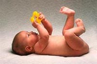 Picture of a baby grasping an object