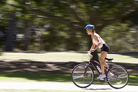 Photo of woman on bicycle