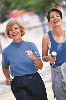 Photo of two women jogging