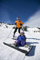 Photo of kids on skis