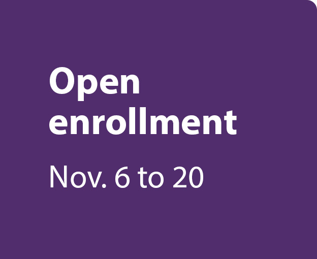 Open enrollment November 6th to 20th