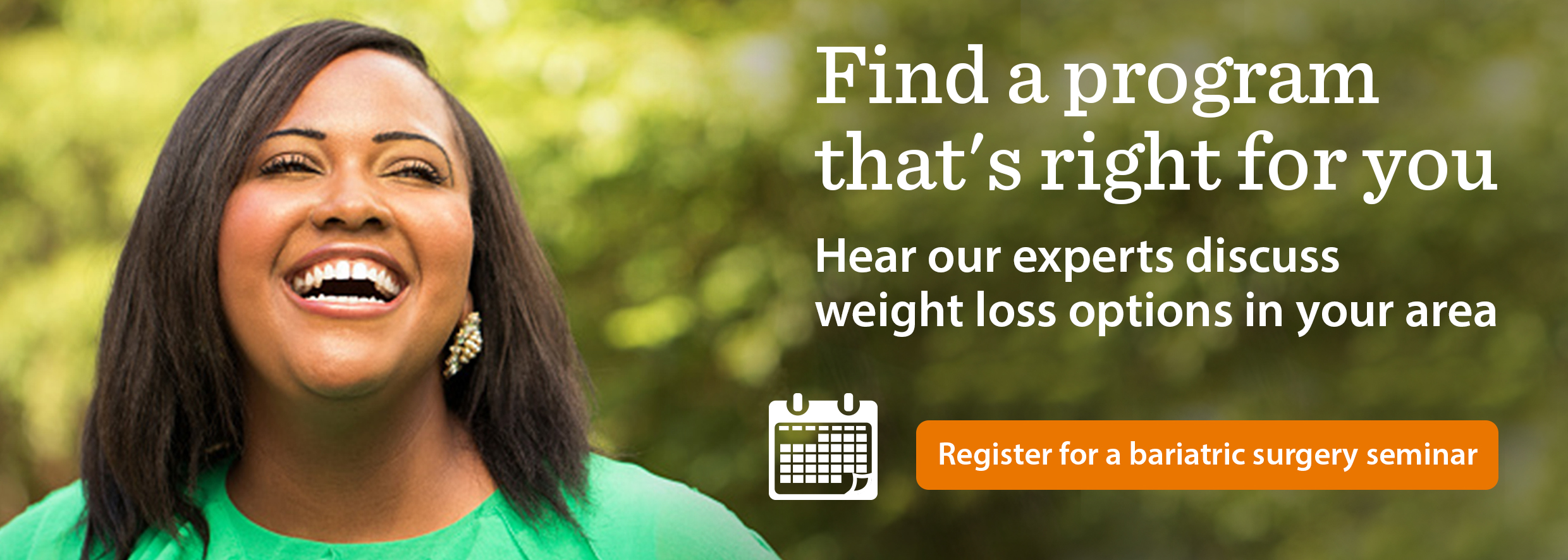 Register for a bariatric surgery seminar