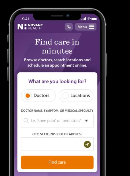 Find A Doctor Schedule Online Novant Health
