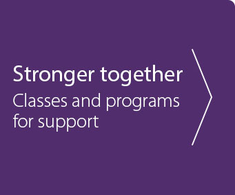Stronger together support group banner