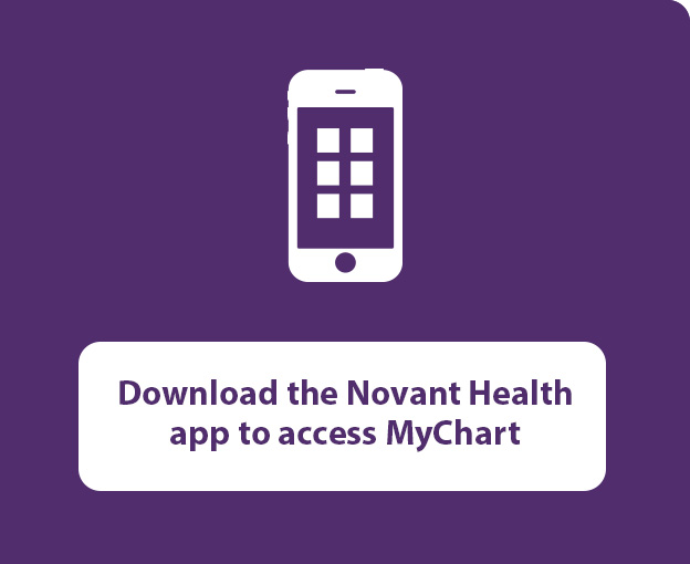 Download the Novant Health app to access MyChart