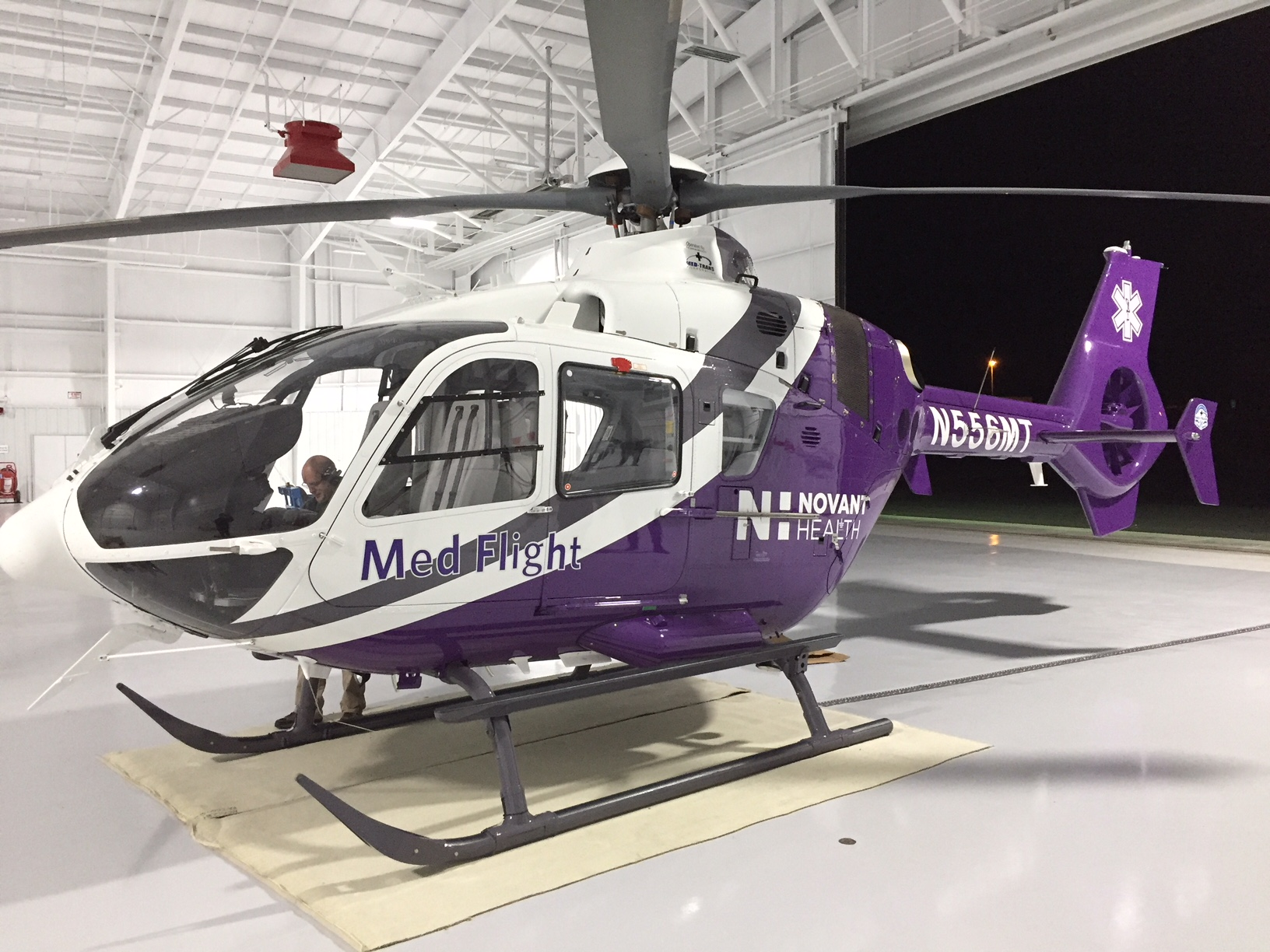 Novant Health Med Flight Helicopter