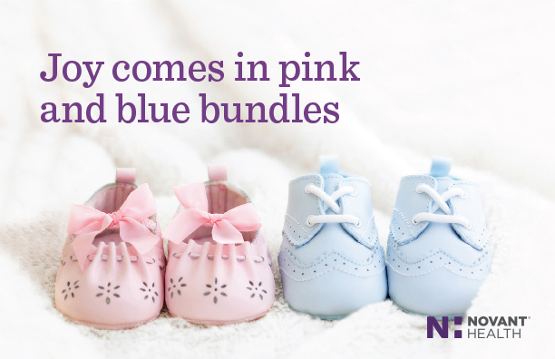 image of pink and blue baby footies